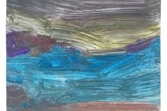Wasted Nature 29, Gouache auf Papier, 199 x 199 mm